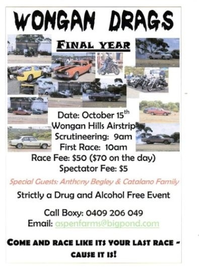 Wongan hills drags